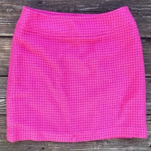 Rafaella Wool Blend Textured Lined Pink Skirt